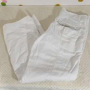 Lee White Cargo Capris to Pants Adjust